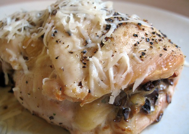 Mushroom and Parmesan Stuffed Chicken