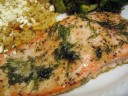 Seasoned Salmon with Dill
