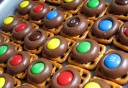 Pretzel, Hershey Kiss, and M&M Bites