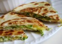 Zucchini, Onion, and Cheddar Quesadillas
