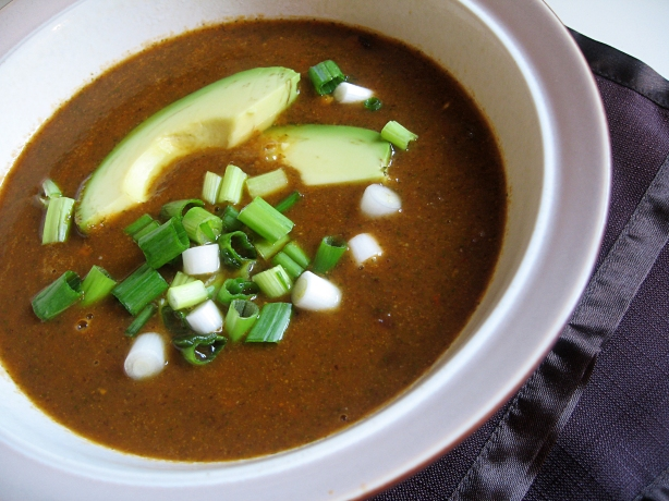 Black Bean and Roasted Red Pepper Soup