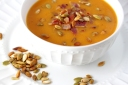 Butternut Squash Soup with Bacon and Pumpkin Seeds