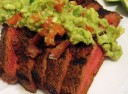 Flank Steak with Bacon and Guacamole