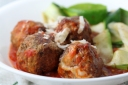 Meatballs and Marinara with Zucchini Ribbons