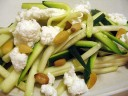 Zucchini Saute with Goat Cheese and Pine Nuts