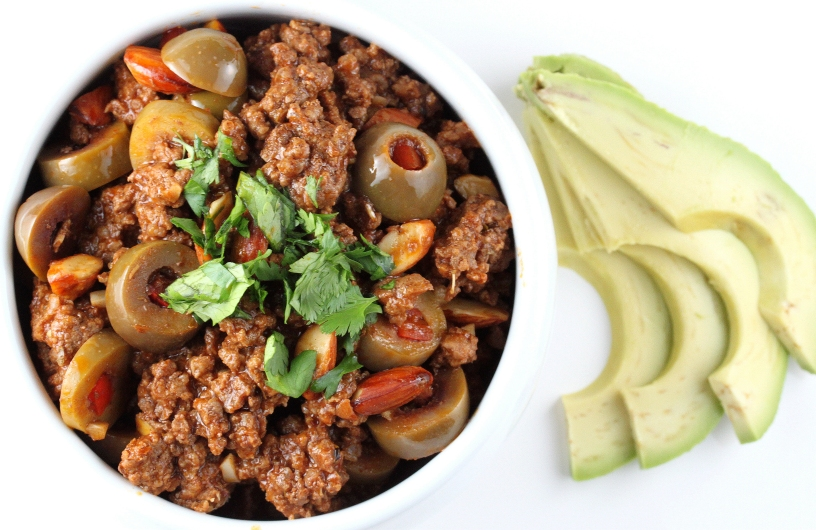 Cuban Picadillo with Almonds