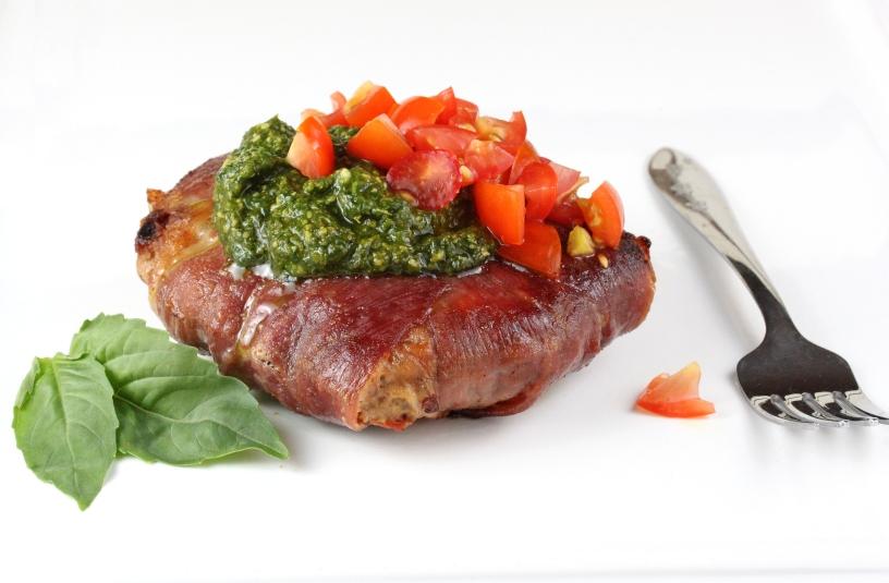 Prosciutto-Wrapped Lamb Burgers