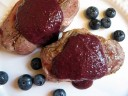 Lamb Chops with Blueberry Pan Sauce