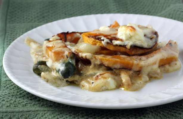 Butternut Squash and Poblano Gratin