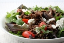 Mexican Shredded Beef Salad with Goat Cheese and Grape Tomatoes