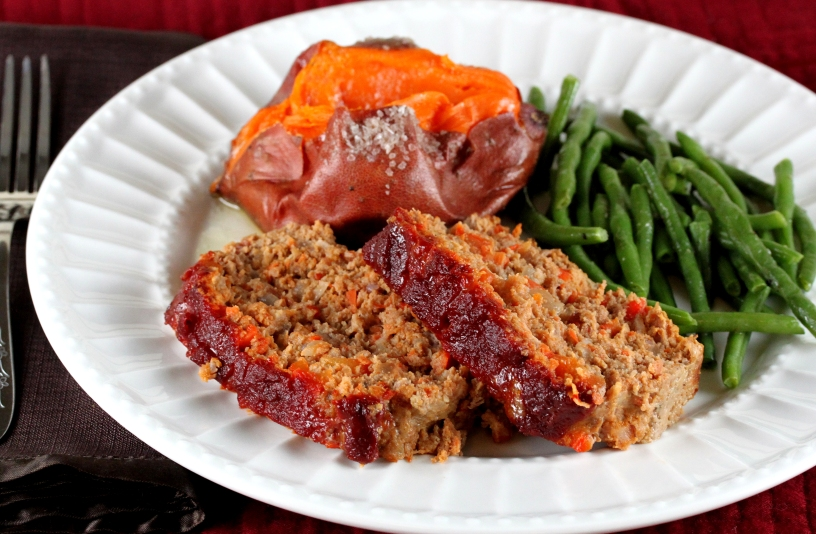 Beef, Pork, and Bacon Meatloaf