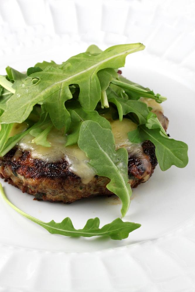 Mushroom-Crusted Chicken Burgers