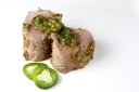 Pork Loin Baked with Green Onions, Jalapeno, and Ginger