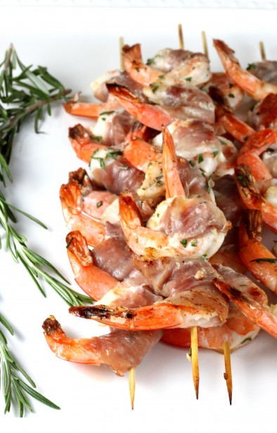 Prosciutto-Wrapped Shrimp Skewers