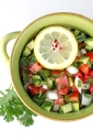 Tomato and Cucumber Salad with Lemon