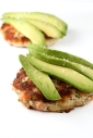 Salmon and Crab Cakes with Avocado