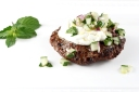 Spiced Burgers with Greek Yogurt and Cucumber Relish