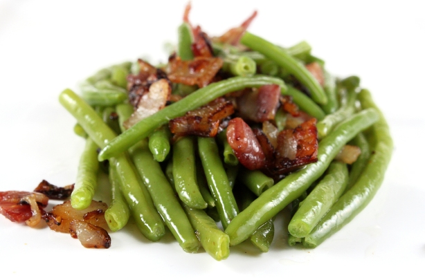 Green Beans with Bacon and Shallots |