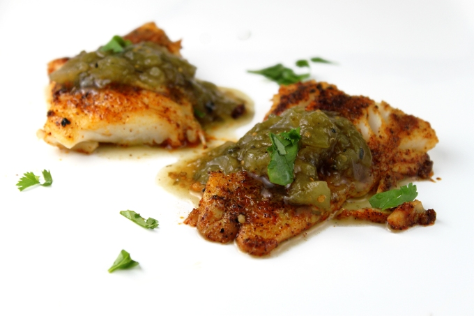 Cod with Salsa Verde