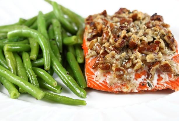 Pecan Parmesan Salmon