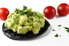 Portabellas stuffed with Avocado