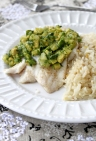 Flounder with Avocado Pineapple Salsa Compressed