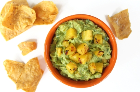 Grilled Pineapple Guacamole Compressed